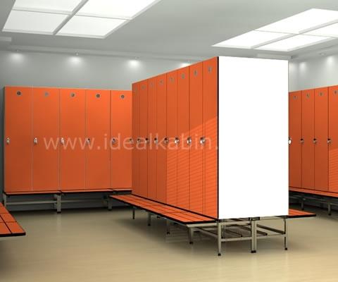 Одностворчатый  Шкафчик для раздевалки